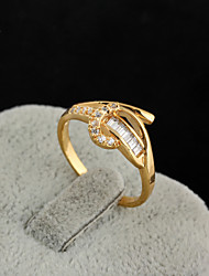 KuNiu Women's High Quality Classic 18K Gold Plated Zircon Wedding Rings J0004