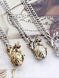 Women's Fashion Jewelry Vintage Casual Alloy Heart Pendant Necklace