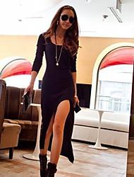 Women's Dresses , Cotton/Knitwear Sexy/Party Long Sleeve K.M.S