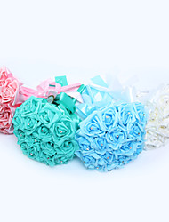 Elegant Hand Made Decorative PE Rose Flower Bride Bridal Wedding Bouquets Accessaries Party Decor(More Colors)