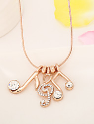 The melody of love music chain necklace clavicle