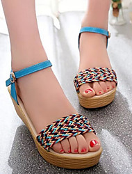 Falin Women's Shoes Blue/Almond Wedge Heel 3-6cm Sandals