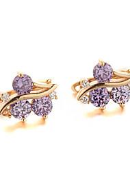 Sjeweler New Female Cherry Gold-Plated Zircon Earrings