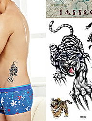 Waterproof Tiger Temporary Tattoo Sticker Tattoos Sample Mold for Body Art*1pc