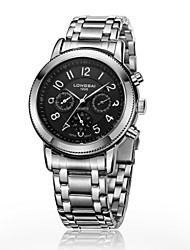 Men's Calendar Analog Stainless Steel Case Round Dial Stainless Steel Band Automatic Watch Gift Watch(Assorted Colors)