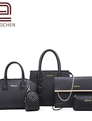 Handcee® Cheap Simple Style Woman PU Handbag Bag Lash Package