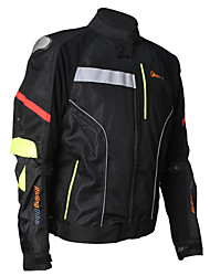 Waterproof Motorcycle Jacket with CE Protectors /  Motorbike's Riding Racing Clothes /Spring/Summer/Black /M-XXXL