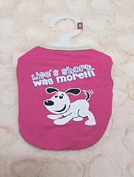 Hunde - Sommer - Baumwolle Rose - T-shirt - S