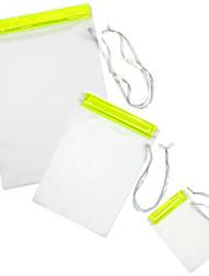 TIROL 3Pcs Transparent PVC Splash Proof Pouches Set PVC Water Proof Bag Set for Cellphone/Tablet/Camera