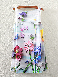 Women's Sleeveless Floral Graphic Printed Vest