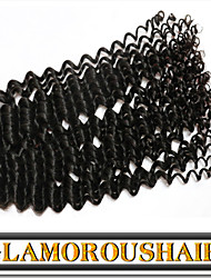 "3 Pcs/Lot 12""-30"" Indian Unprocessed Virgin Hair Natural Black Tight Curly Human Hair Extension"
