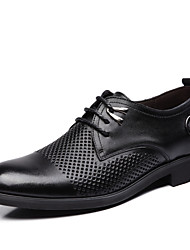 Men's Shoes Wedding/Office & Career/Casual Leather Oxfords Black/Brown