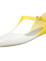 Women's Shoes Rubber Flat Heel Jelly Sandals Outdoor Blue / Yellow / Purple / Red / Coral