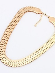 Jewelry Choker Necklaces Wedding / Party / Daily / Casual Alloy / Gold Plated 1pc Women Wedding Gifts