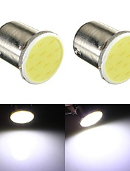 2 x 12V 1157  12-SMD COB White Car Brake Parking Light Bulbs