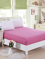 Pink Cotton Mattress Cover Fitted Sheets