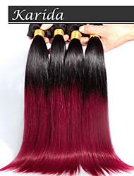 3 PC / ventas al por mayor del pelo ombre recta teje color 1b / 530 #, suave y enreda la extensión del pelo libre brasileña del pelo ombre