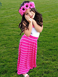 Girl's Summer Princess Long Style Sleeveless Dresses (Cotton Blends)