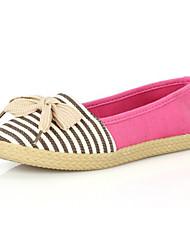 Women's Shoes Canvas Linen Fabric Flat Heel Platform Boat Gladiator Comfort Pointed Toe FlatsWedding
