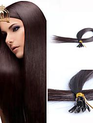 "20""inch U Tip Eurasian Virgin Hair Straight Human Hair Color Natural Black"