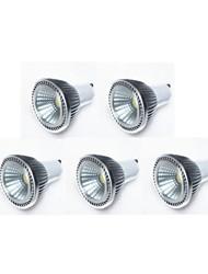 5W GU10 Spot LED MR16 1 COB 450 lm Blanc Chaud / Blanc Froid / Blanc Naturel Gradable AC 100-240 / AC 110-130 V 5 pièces