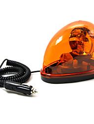 TIROL New Magnetic Teardrop DC12V Rotate Beacon Amber Warning Lights Single Flash