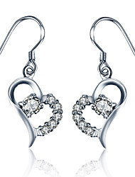 July 7th Lover 925 Sterling Silver Earrings Heart Female Silver Jewelry Earrings Earrings Korean Cute Fashion Lady