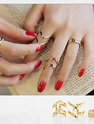 Ring Daily / Casual Jewelry Alloy Women Midi Rings / Set 3pcs,8 / Adjustable Gold