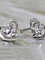 Heart Stud Earrings Jewelry Heart Birthstones