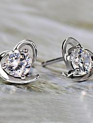 Forme de Coeur Boucles d'oreille goujon Bijoux Cœur Pierres de naissance