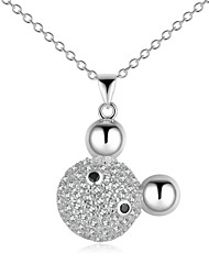 Cute Style 925 Sterling Silver Jewelry Bear Pendant Necklace for Women