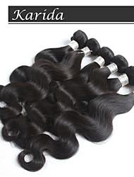 cheveux de vague de corps péruvien, non transformés vague de corps cheveux vierges péruvien 100% humaine