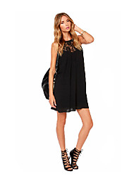 Women's Vintage/Sexy/Beach/Casual/Cute/Party/Plus Sizes   Short Sleeve Above Knee Dress