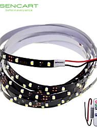 SENCART 2 M 120 3528 SMD Blanc Découpable/Télécommande/Intensité Réglable/Connectible/Pour Véhicules/Auto-Adhésives 10 WBandes Lumineuses