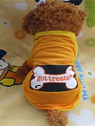 T-shirt - Chiens - Eté Orange - en Nylon - XS / S / M / L