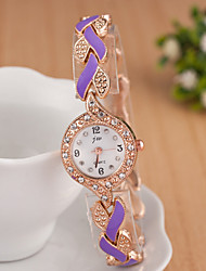 Women's Watches Ladies Fashion Colorful Steel Watch Accessories Exquisite Diamond Bracelet Watch Leaves Cool Watches Unique Watches