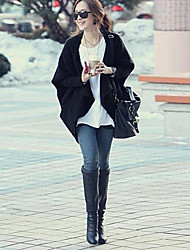 Women's Black/Beige Cardigan,Casual Long Sleeve