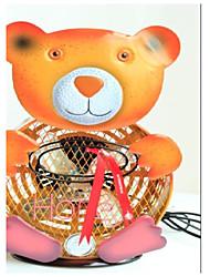 pintado himalayan fan del oso decorativo hierro esculpido a mano