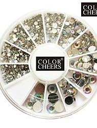 500PCS 6 Taille Arcylic diamant Décorations Nail Art