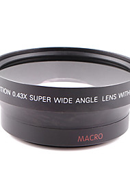 62mm 0.43x lente gran angular adjunta de propósito general para el canon nikon cámara 62mm calibre puede ser utilizado