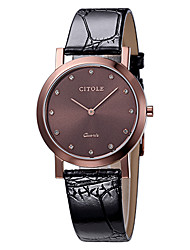CITLOE Men's Fashion Dress Watch Simple Style Dial Black Leather Band Quartz Watch CT5008GBCR