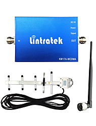 Lintratek® Mini Size WCDMA 2100mhz Signal Booster 3G Cell Phone Signal Booster UMTS Full Sets Booster with 3G Yagi Antennas