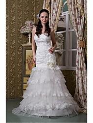Vestido de Noiva Sereia Coração Comprido Tule