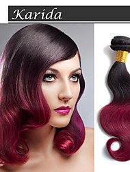 3 пучки 12-30 дюймов высокое качество дешевым волосы ткачество бразильский человеческие волосы 1b / 530 # Ombre объемная волна
