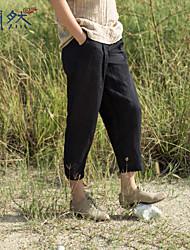 Xianran®  Women's Casual/Cute Inelastic Long Plus Size Thin Harem Pants S-XXL (Linen)