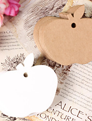 10pcs Apple Kraft Paper Hang Tag Lable Bookmark for Gift Bakery Favors Price Cards Wedding Party (More Colors)