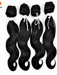3Pcs/Lot Unprocessed 100% Indian Remy Hair Body Wave Natural Black Hair Weaves
