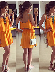 Women's Casual Off-the-shoulder/Round/Straps Sleeveless Suits (Chiffon)