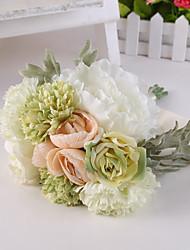 lichtgroen nam bloemen bruidsboeket voor woninginrichting