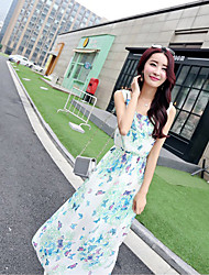 Women's Beach/Casual/Party Sleeveless Dresses (Chiffon)
